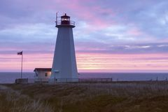 Cape Anguille Lighthouse, Newfoundland. Newfoundland and Labrador, Canada royalty free stock images