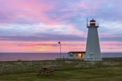 Cape Anguille Lighthouse, Newfoundland. Newfoundland and Labrador, Canada stock images