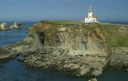 Cape Arago Lighthouse. Image of an historical landmark near Charleston, OR stock photo