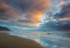 Cape Arch Beach. Silant And Empty Beach At Twilight In Arch Cape, Oregon Stock Image