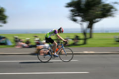 Cape Argus Cyclist. One of the 35,000 Cape Argus cyclists, closing in on the finish line in Cape Town, South Africa Stock Image