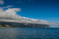 Cape Aya is a steep spur of the Main Ridge of the Crimean Mounta Royalty Free Stock Photo