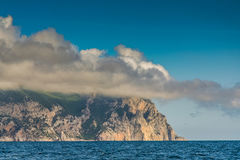 Cape Aya is a steep spur of the Main Ridge of the Crimean Mounta Royalty Free Stock Image