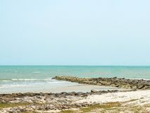 Cape and Beach with Clear Sky Royalty Free Stock Image