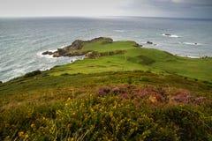 Cape between the beaches Toranda and Torimbia, Cantabria, Spain Stock Photography