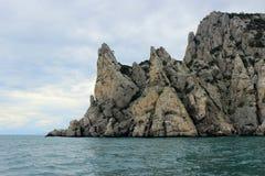 Cape in the Black sea in Crimea, Ukraine. Cape in the Black sea near Novyi Svet in Crimea, Ukraine Stock Photo