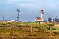Cape Blanco Lighthouse at Pacific coast, built in 1870 Stock Images