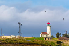 Cape Blanco Lighthouse at Pacific coast, built in 1870 Royalty Free Stock Photos