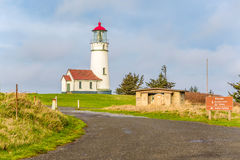 Cape Blanco Lighthouse at Pacific coast, built in 1870 Stock Photos