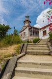 Cape Bojeador Lighthouse. Also known as Burgos Lighthouse, is a cultural heritage structure in Burgos, Ilocos Norte, that was established during the Spanish Stock Photography