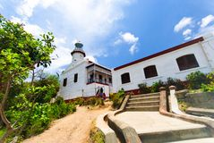 Cape Bojeador Lighthouse, Burgos, Ilocos Norte, Philippines Royalty Free Stock Photo