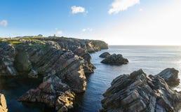 Cape Bona Vista coastline in Newfoundland, Canada. royalty free stock image