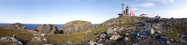 Cape Bonavista Lighthouse Panorama Royalty Free Stock Photo