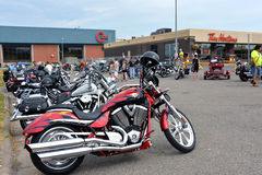 Cape Breton Bike Rally Stock Photo