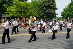 Cape Breton Brass Marching Band Stock Photography