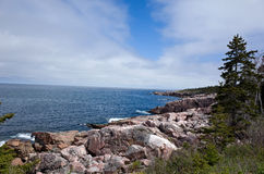 Cape Breton Coastline. Cape Breton Highlands National Park provides many scenic views. Cape Breton Island, part of the province of Nova Scotia, Canada is stock photography