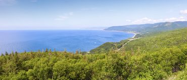 Cape Breton Highlands National Park in Nova Scotia. Nova Scotia, Canada royalty free stock image