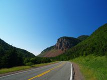 Cape Breton highway. Highway in Cape Breton, Nova Scotia Stock Images