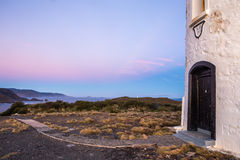 Cape Bruny Lighthouse and its view over the Tasmanian South coast Stock Photo