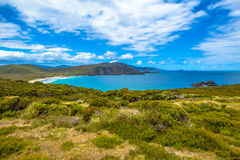 Cape Bruny Lookout. Cape Bruny Lighthouse is located within the South Bruny Island National Park, Tasmania, Australia. Bruny Island is an island located along Royalty Free Stock Photo