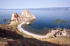 Cape Burkhan, Lake Baikal, island Olkhon. Stock Image