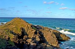 The Cape Byron, easter most point of Australia stock photo