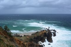 Cape Byron. New South Wales. Australia. Cape Byron is the easternmost point of the mainland of Australia Stock Photos