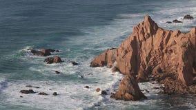 Cape Cabo da Roca at Atlantic coast, Portugal stock video