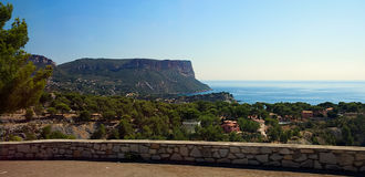 Cape Canaille. Cassis - Provence - France Royalty Free Stock Photos