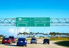 Cape Canaveral and Cocoa beach sign Florida Stock Photos