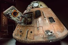 Cape Canaveral, Florida - 13. August 2018: Apollo 14 Capsuleat die NASA Kennedy Space Center stockfotografie