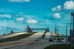 Cape Canaveral, Florida - 13. August 2018: Rocket Launch Pad an der NASA Kennedy Space Center lizenzfreie stockfotos