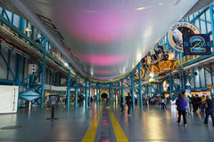 CAPE CANAVERAL, FLORIDA. November 1th, 2014.  Interior of NASA Kennedy Space Center, Apollo Saturn V Center at Kennedy Space Center, Orlando, Florida. This is Stock Photo