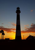 Cape Canaveral Lighthouse. At sunset, Cape Canaveral, Florida Stock Image