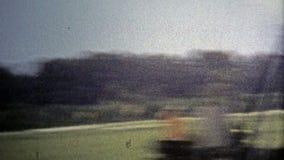 CAPE CANAVERAL USA -1971: Skärm för museum för motorer för Cape Canaveral rymdfärja verklig stock video