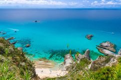 Cape Capo Vaticano aerial panoramic view, Calabria, Southern Italy royalty free stock photos