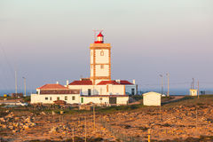 Cape Carvoeiro lighthouse in Peniche, Portugal Royalty Free Stock Photography