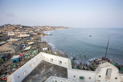 Cape Coast Cityscape, Ghana Stock Photography