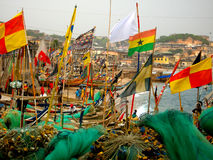 Cape Coast Fishing Boats Royalty Free Stock Photography