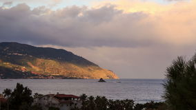 Cape. Coast of Sicily. Italy, Time Lapse. 4K stock footage