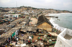 Cape Coast township from castle Stock Photo