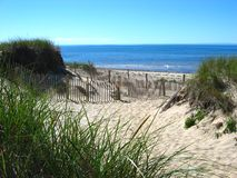 Cape Cod, Beach 04. A beach on the cap with sand dunes royalty free stock images