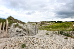 Cape Cod Beach Fence Royalty Free Stock Images