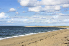 Cape Cod beach, Provincetown MA. Beautiful beach on Cape Cod at Provincetown, Massachusetts Stock Image