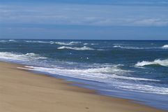 Cape Cod Beach and surf. From the Atlantic Ocean Royalty Free Stock Image