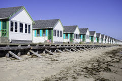 Cape Cod Cottages Stock Photo
