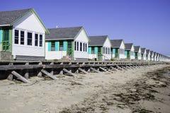 Cape Cod Cottages Stock Photo