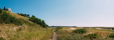 Cape Cod Dune Panorama Stock Photo