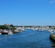 Cape Cod, Falmouth Harbor 03. Falmouth Harbor, Cape Cod with boats and docks stock photos