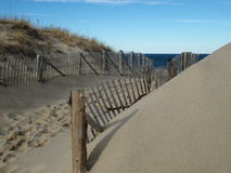 Cape Cod Fence royalty free stock photo